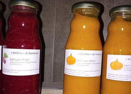 Condiments de l'exploitation agricole Louis Miche près de Blangy-sur-Bresle